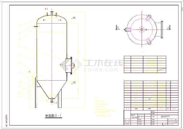 用于污泥处理的D1000压力泥罐全图-图2