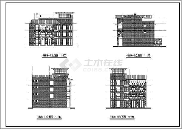 西南别墅全套建筑cad施工图-图1
