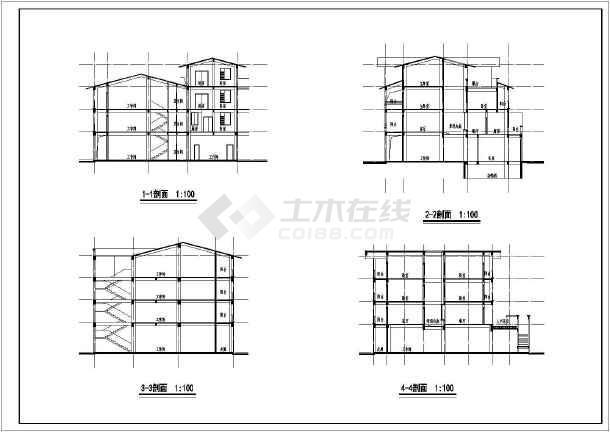 西南别墅全套建筑cad施工图-图2