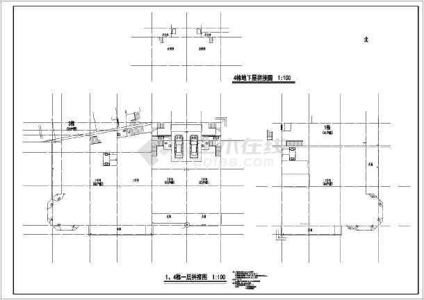 西南别墅全套建筑cad施工图-图3