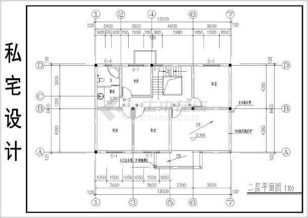 某地别墅私宅图纸建筑设计v别墅施工图dnf二层装备图片