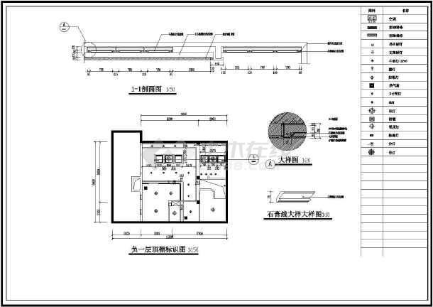 别墅室内装饰cad平立剖面设计施工图