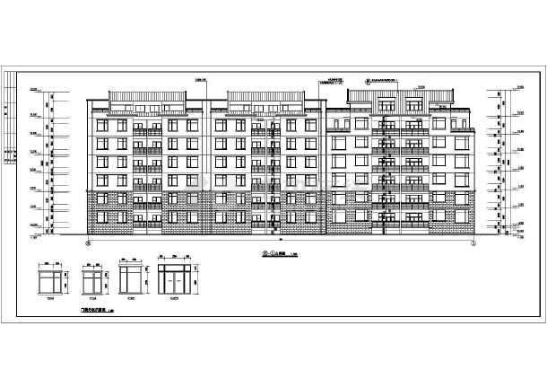 某地七层单元式小区住宅楼建筑设计图