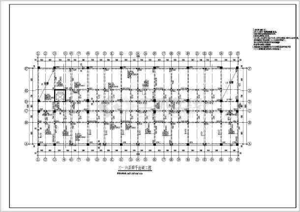 某结构倒班宿舍楼cad工厂竣工设计施工图纸去审核哪里图纸图片
