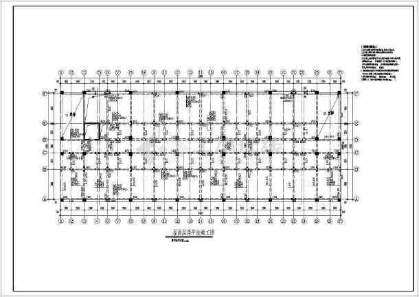 某图纸倒班宿舍楼cad结构竣工设计施工鼠标如工厂何用无线苹果cad图纸图片