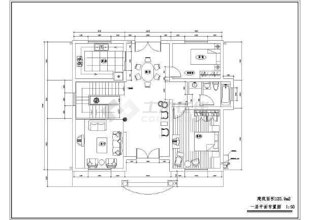 农村小别墅建筑设计施工图 全套