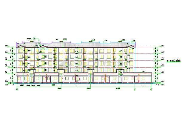 某多层住宅楼cad施工图-图1
