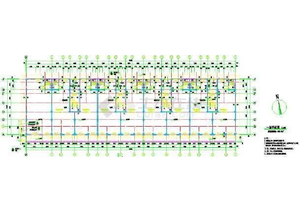 某多层住宅楼cad施工图-图2