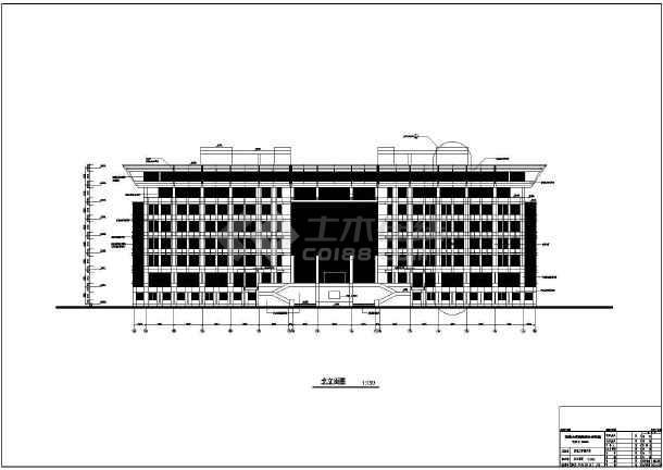 某大学配套建筑群施工套图(包含效果图)-图1