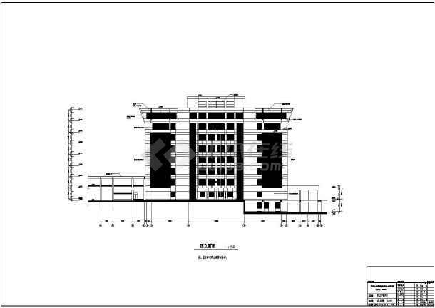 某大学配套建筑群施工套图(包含效果图)-图2