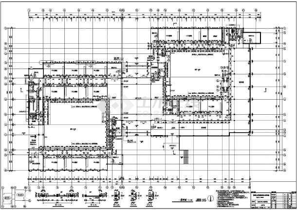 某大学配套建筑群施工套图(包含效果图)-图3