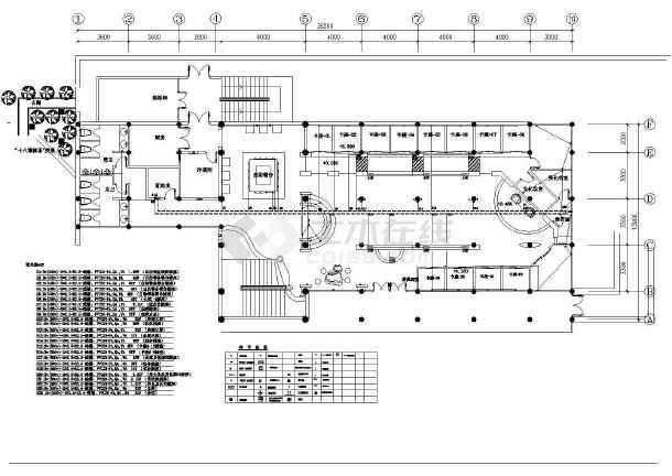 五星级标准茶馆电气cad施工平面图纸全套图片