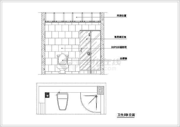某地区标准两居室家居装饰cad整套设计施工图纸-图2