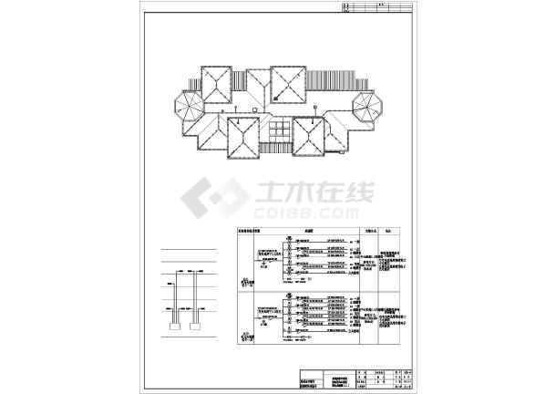 某地区住宅高档豪华别墅电气设计cad施工图纸-图1