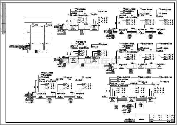 某地区住宅高档豪华别墅电气设计cad施工图纸-图2