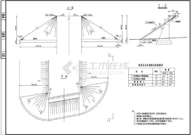 某南方大桥全套结构CAD设计施工图-图2