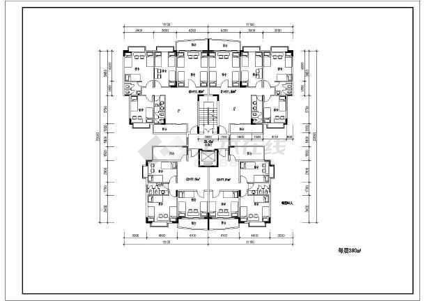 某住宅小户型平面设计施工CAD图纸
