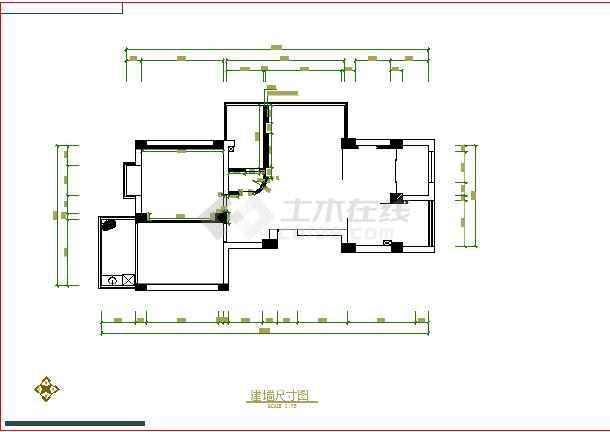 某图纸室内装修cad施工设计图纸英文版CAD家庭如何打印设置软件图片