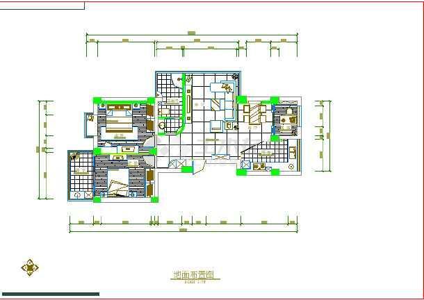 某高层室内装修cad施工设计图纸设计图纸酒店cad家庭图片