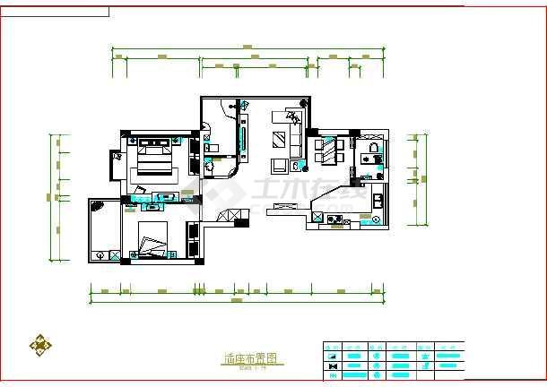 某图纸室内装修cad设计施工图纸3家庭d2017137期图片