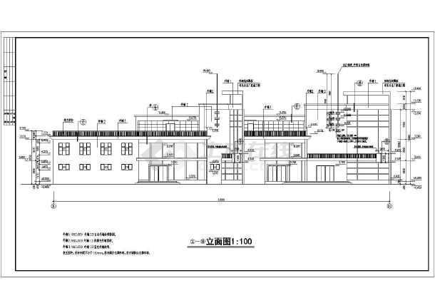 某地三层框架结构商业会所建筑cad施工图-图2