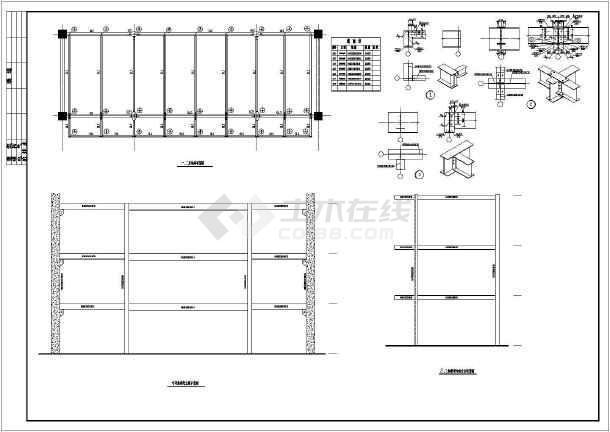 某天桥结构设计cad设计施工图纸-图1