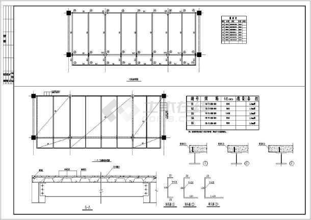 某天桥结构设计cad设计施工图纸-图2