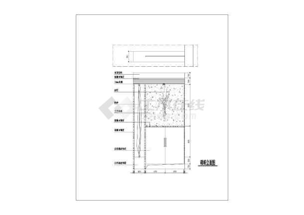 两居室户型室内家装设计cad平面施工图-图3