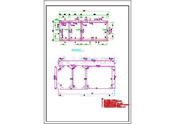 某地下三仓综合管廊标准断面结构施工图