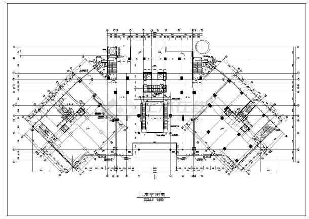 某地区大型海丰广场建筑平面图(共6张)-图2
