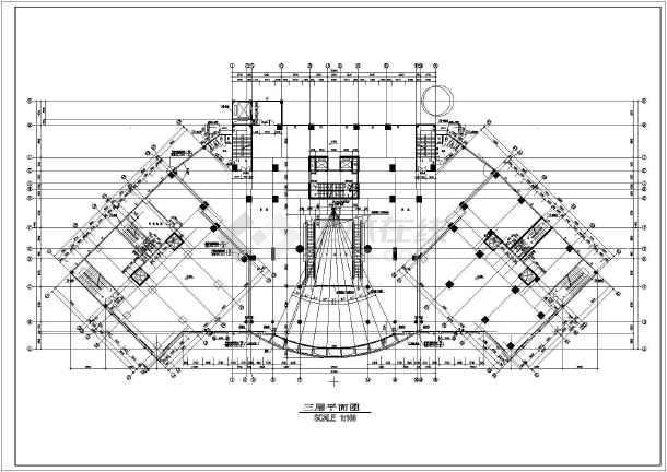 某地区大型海丰广场建筑平面图(共6张)-图3