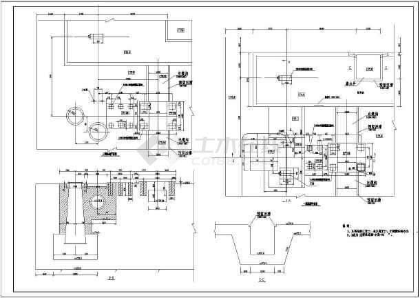 某大型水库工程整套CAD设计施工图-图3