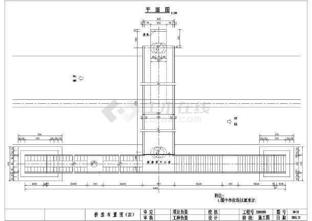 某天桥(钢箱梁)CAD设计施工图纸-图3