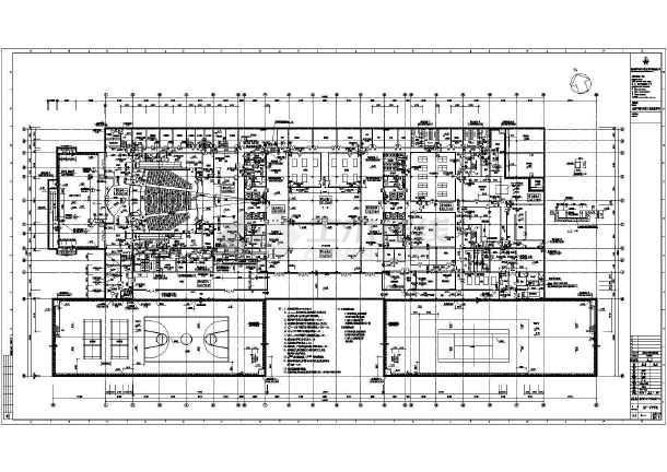 某青少年活动中心建筑设计cad图纸(深圳电子院)-图1
