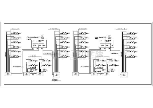 某地区住宅全套家庭电气施工CAD设计图-图2