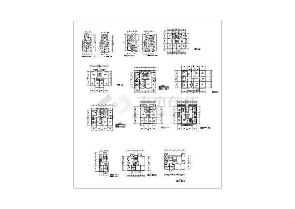 某地区经典中式餐厅建筑设计施工cad图-图1