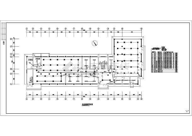 一套办公楼电气施工图纸设计CAD图纸-图2