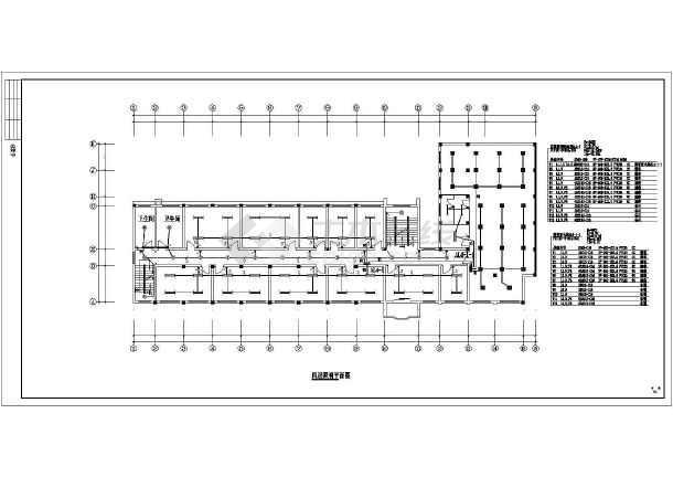 一套办公楼电气施工图纸设计CAD图纸-图3