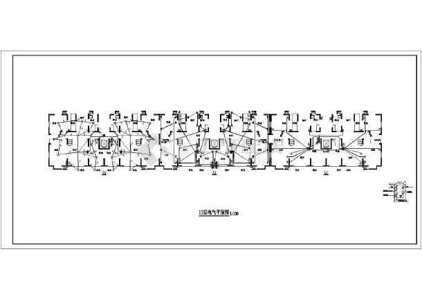 一套高层住宅楼家庭电气设计规划cad施工图-图3