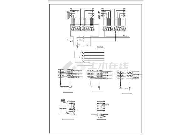 某地区经典住宅楼电气全套CAD设计图纸-图3
