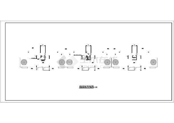 一套面积住宅楼电气规划设计cad施工图cad中高层圆弧图片
