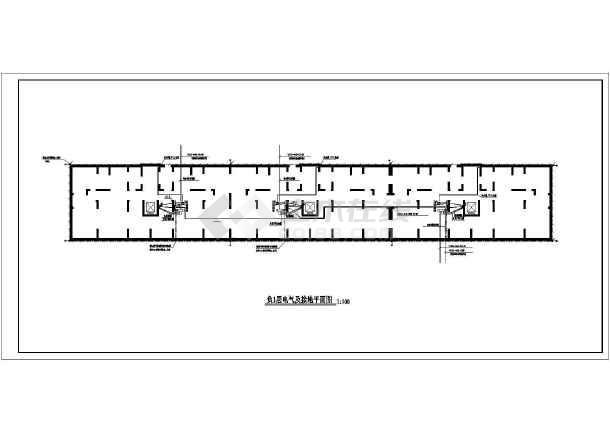 一套电气住宅楼缺失规划设计cad施工图安装cad2018高层api图片