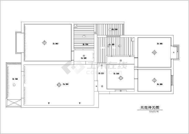 两居室家居室内装饰cad施工设计图-图2