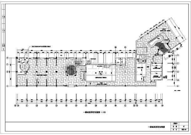华海园住宅小区会所经典中式餐厅图纸-图1