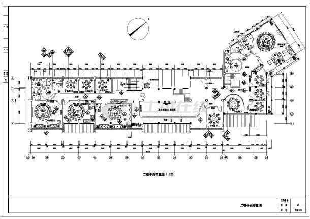 华海园住宅小区会所经典中式餐厅图纸-图2