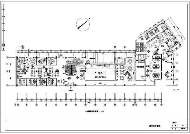 华海园住宅小区会所经典中式餐厅图纸-图3