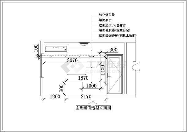 阳光精典二居家装设计cad施工图-图3