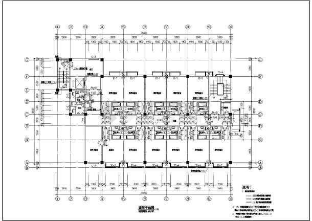 工人俱乐部建筑施工cad设计方案图纸-图1