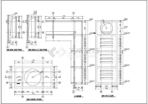 工人俱乐部建筑施工cad设计方案图纸-图3