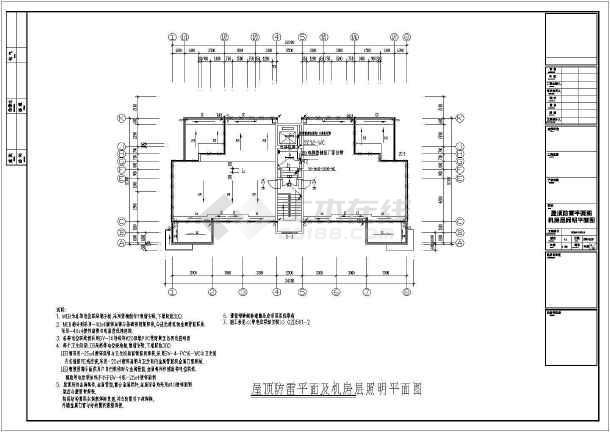 某地区住宅小区12层建筑电气cad施工图纸-图1